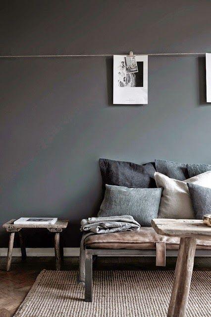 Dark grey wall