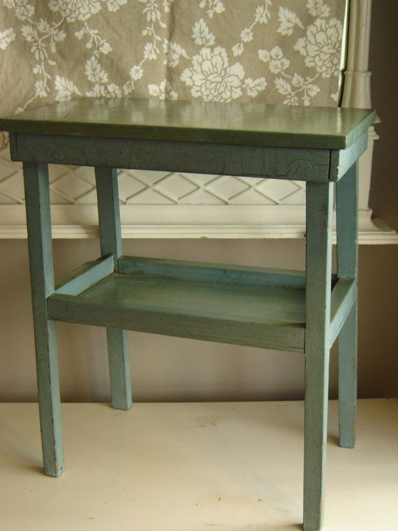 Hand Made Vintage 1925 Small End Table Childu0027s By VintageIdeology, $89.00