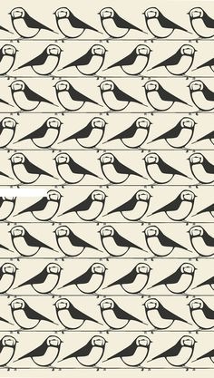 repeated bird pattern