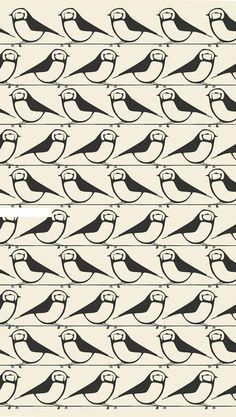 repeated bird pattern