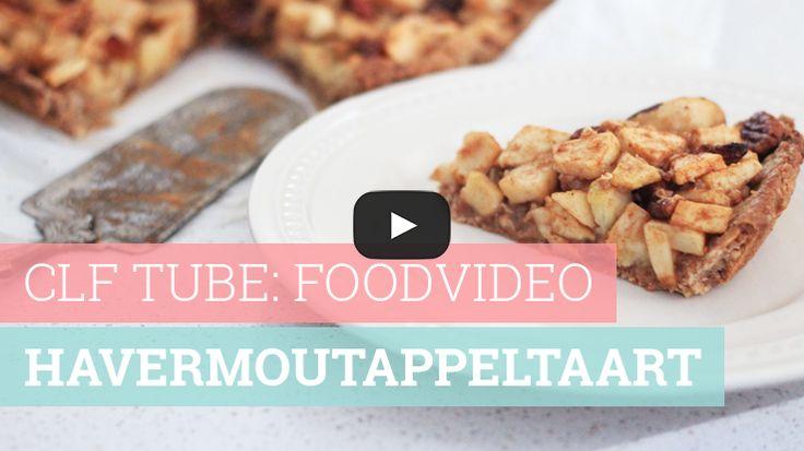 Foodvideo: Havermoutappeltaart met honing