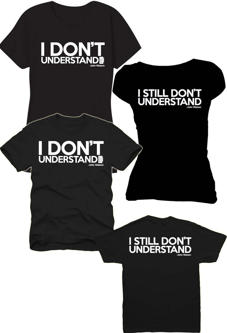 it is on a tshirt :) I Don't Understand T-Shirt
