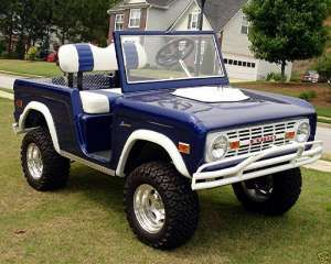 Ford Bronco style golf cart