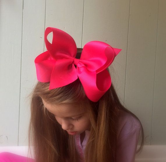 Extra large hair bow for girls, You choose colors, Jumbo hair bow https://www.etsy.com/listing/178554376/big-pink-hair-bow-hair-bows-for-girls?ref=shop_home_active_5