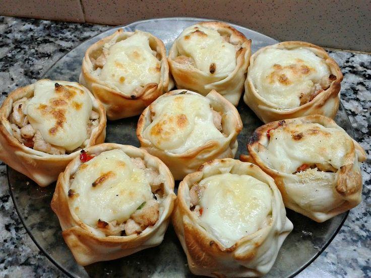 CANASTITAS DE POLLO Y SALSA BLANCA 2 | Cocina