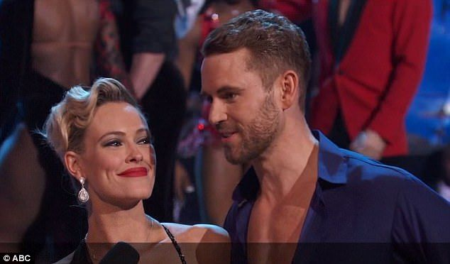 Sent home: Nick Viall was eliminated from Dancing With The Stars on Monday along with Nancy Kerrigan