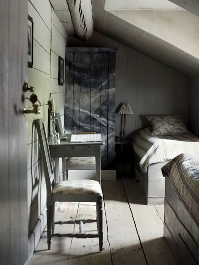 Practical use of space up in the eaves, and a nice play of ...
