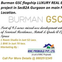 Burman GSC Services Residences project in Sec 82A Gurgaon Villa, Office Space Available.8882512345
