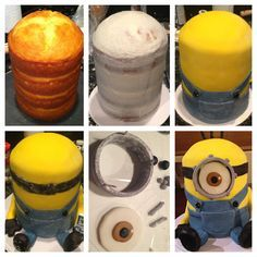 Minion cake...trying to decide if I'm brave enough to commit to making one like this.