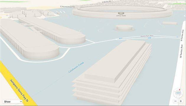 Su Mappe compare il modello 3D dellApple Park