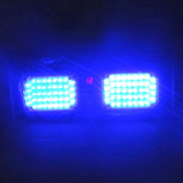 Free Shipping White 86 LEDs Super Bright Car Vehicle Visor Strobe   Emergency Flash Light DC12V 12 Function