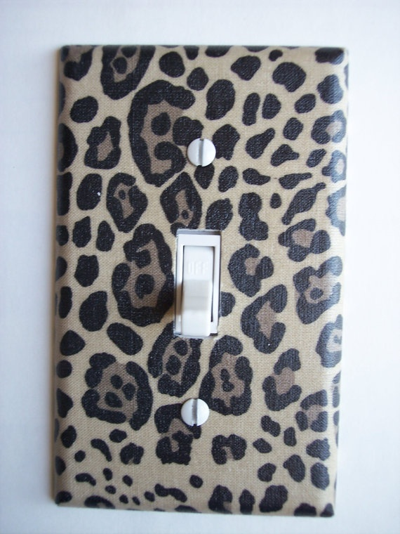 Cheetah Animal Print Single Toggle Switchplate by PopGoesTheColor