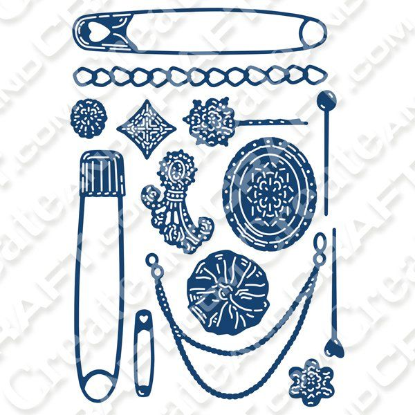 Tattered Lace Dies - Swift Pins and Accents Set | Tattered