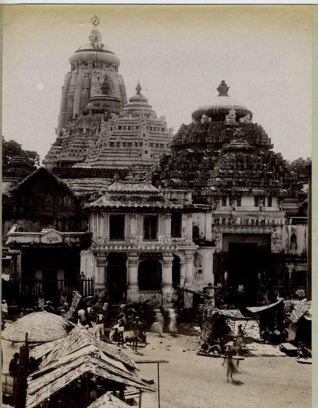 Jagannath Temple, Puri - 1890's #Vintagetemples #AngadiSilks Angadi Silks Bangalore angadisilks.com