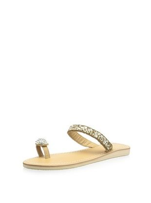 53% OFF Skemo Women's Juana Beaded Sandal (Gold/White/Natural)