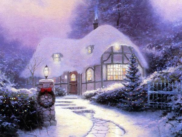 рождественские картины Томаса Кинкейда