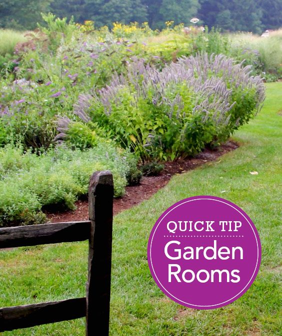 Does Your Large Garden Seem Too Expansive And Impersonal Try This Idea To Make It Cozier More Manageable Gardendesign Tips Gardening