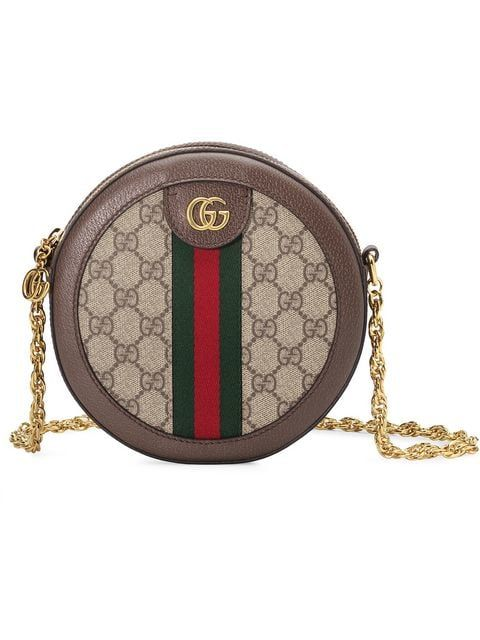 eb44e5729936d Shop Gucci Ophidia mini GG round shoulder bag for  1