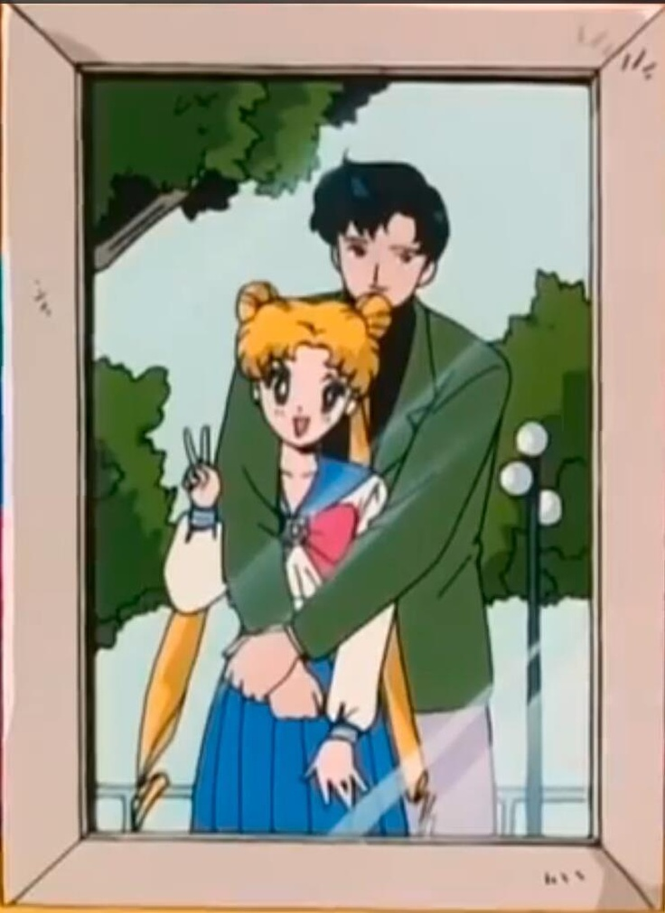 Serena y Darien  #sailor moon So cute!