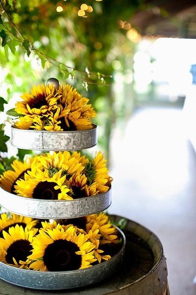 Best 25 Rustic Sunflower Centerpieces Ideas On Pinterest