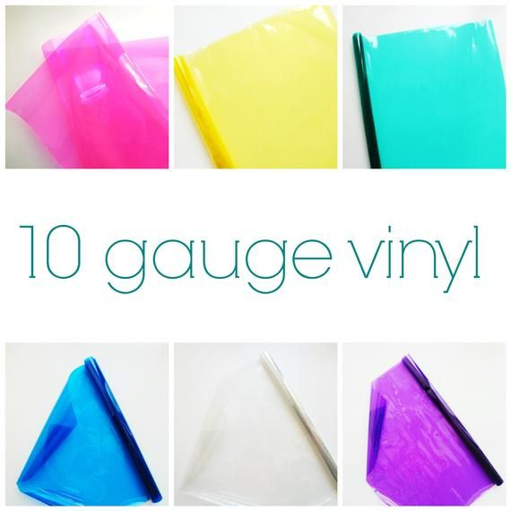 Colorful Transparent Vinyl For Sewing 10 Gauge 1 2 Yard Roll Etsy Vinyl Vinyl Fabric Fun Crafts
