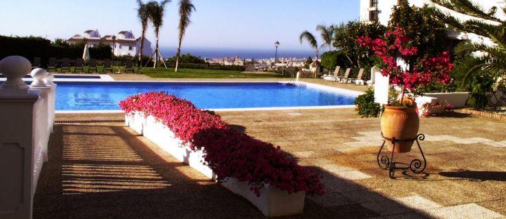 Piscina Vistas al Mar. Hotel Hacienda Puerta del Sol (Mijas, Málaga