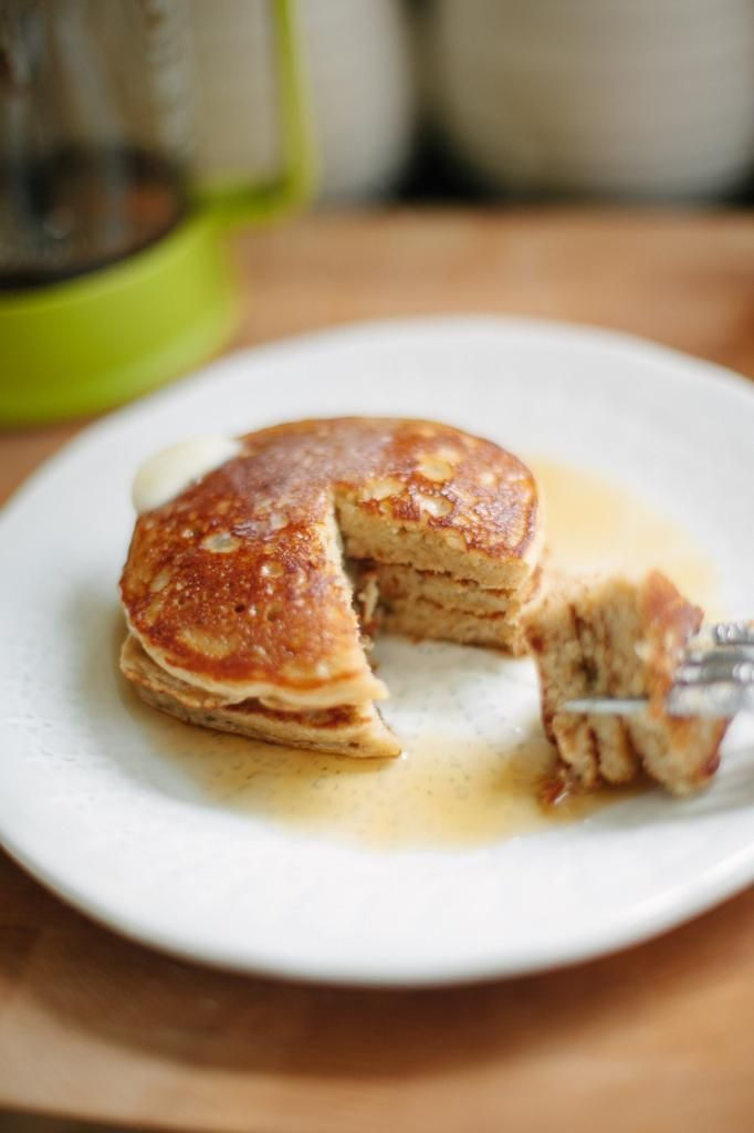 Guilt Free Fluffy Gluten Free Pancakes - best GF pancakes I've tried. I have made them with/without the yogurt and coconut flour, just add extra oat flour if omitting the coconut. I don't buy oat flour, I use oatmeal and just blend it all up in the blender.