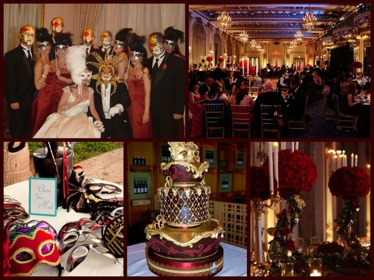 Elegant masquerade ball decorations host an