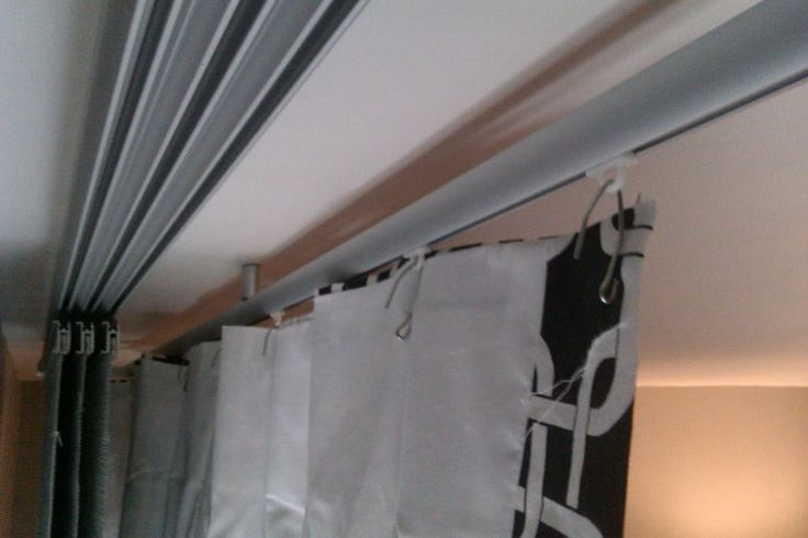 Hanging Ceiling Track Curtains So Much Better Than Ugly