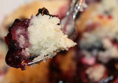Blackberry Dumpling Cobbler - A tender, fluffy sweet buttermilk cobbler dough, dropped like dumplings into freshly stewed blackberries and topped with homemade whipped cream.