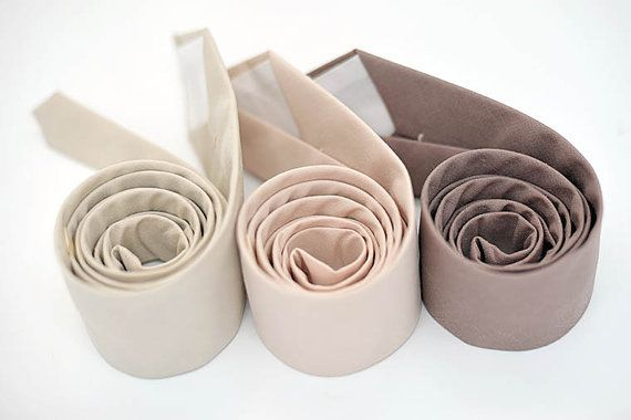 Neutral Nude Fall-Winter Wedding Ties Set  nude blush color palette creates a perfect blend of glamour and romance, elegant looks for