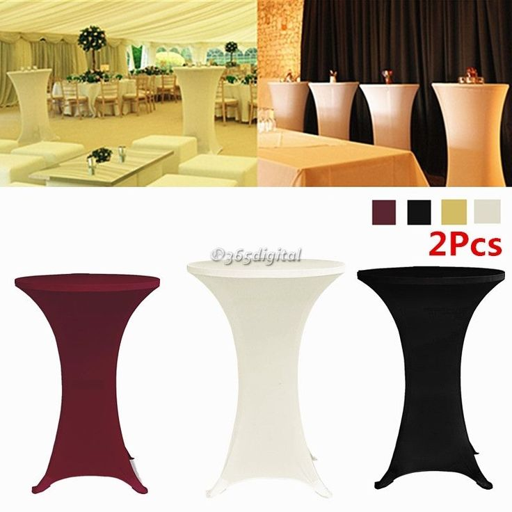 2x Lycra Stretch Cocktail Poseur Dry Bar Spandex Table Cover Cloth Wedding Party #UnbrandedGeneric #Cocktailpartyweddingbanquetsect