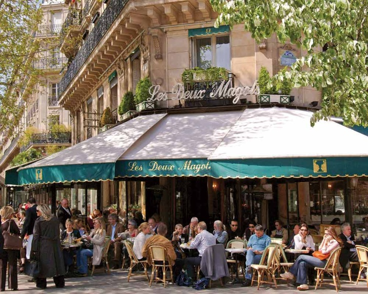 Escritores, políticos y famosos de diferentes épocas se reunían en estos puntos de encuentro... El café parisino Les Duex Magots ha desempeñado un papel importante en la vida cultural de Francia.