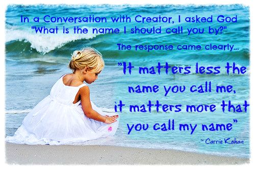 It Matters More That You Call My Name...