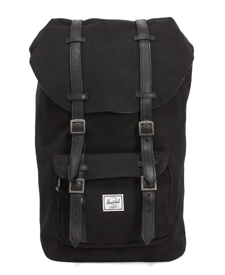 Herschel Supply / ハーシェル・サプライ - Black - Little America (リトル・アメリカ) Cotton Canvas