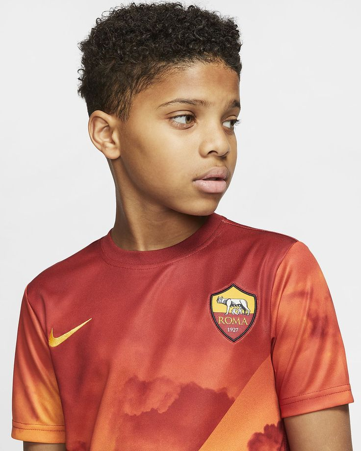 As roma kids shortsleeve football top nike gb in 2020