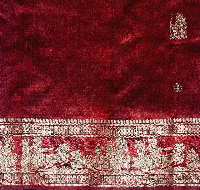 Red Baluchari Saree