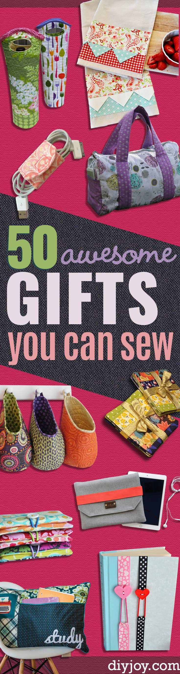 DIY Sewing Projects for Gift Ideas for Adults and Kids, Teens, Women, Men and Baby - Cute and Easy DIY Sewing Projects Make Awesome Presents for Mom, Dad, Husband, Boyfriend, Children http://diyjoy.com/diy-sewing-gift-ideas