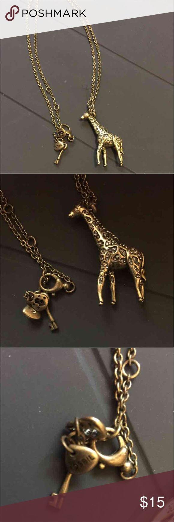 Fossil Giraffe Necklace Super cute Piece Fossil Jewelry Necklaces