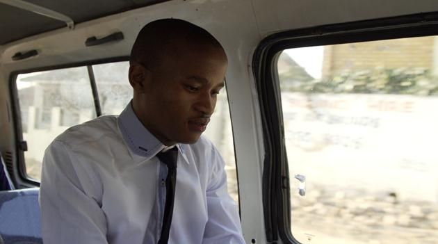Wonderboy Siphamandla Ndawonde on his way to the Lion of Africa offices