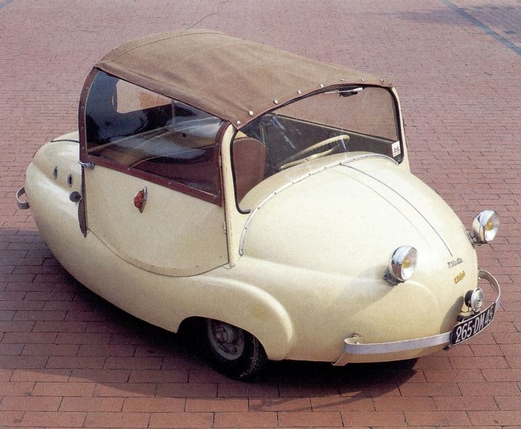 "1956 Valle Chantecler. Cant believe this is even real! Little potatoe car. Or should I say, ""Pomme d'Terre""!"