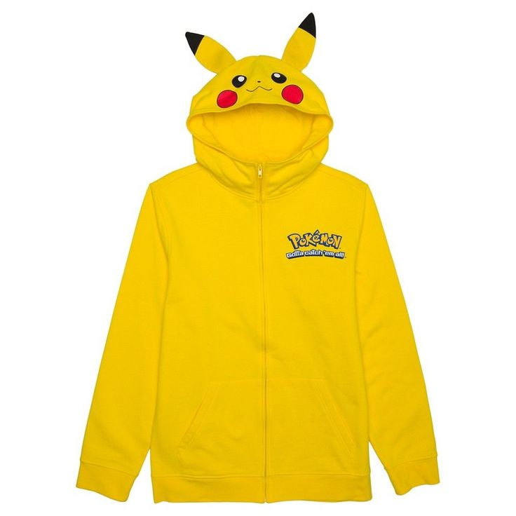 Pokemon Men's Pikachu Hoodie Yellow M