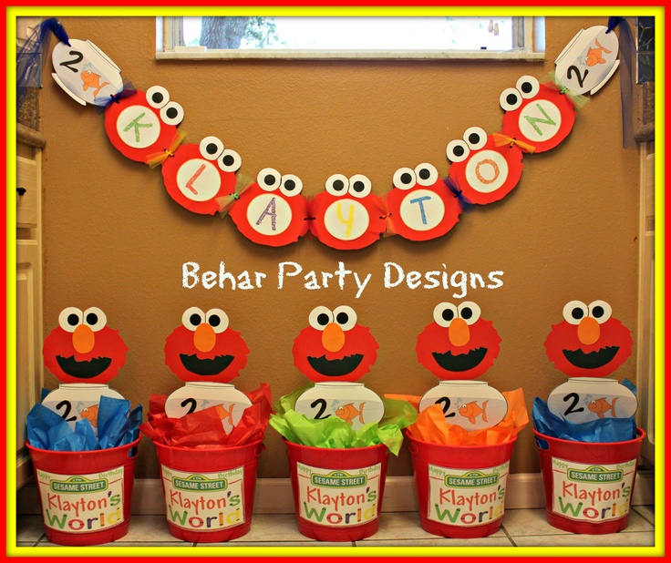 Custom Elmou0027s world banner and centerpieces for a client  sc 1 st  Pinterest & 140 best Party ideas images on Pinterest