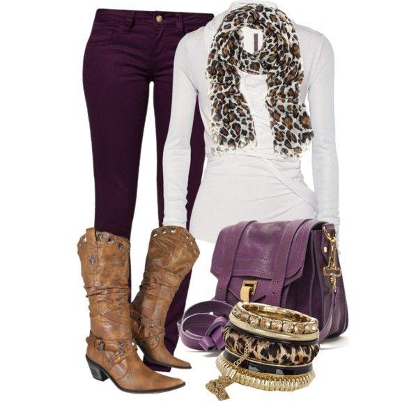 Purple & Leopard