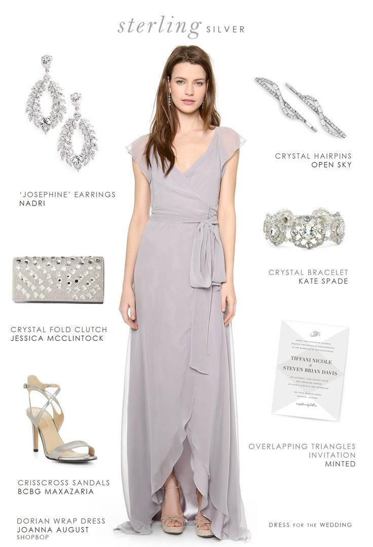 Fresh Gray Dress for Bridesmaids