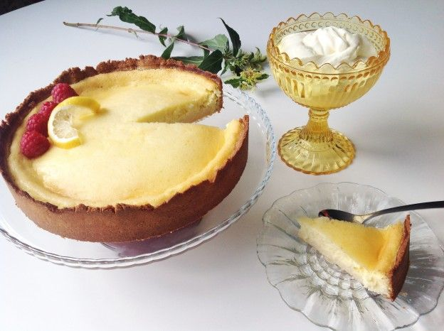 Lemon Pie - Citronpaj LCHF - Recipe in Swedish - Give me a holler if you need translation :0)