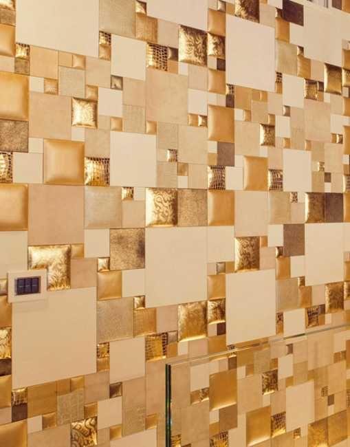 Divine Renovations Decorative Tiles #Panels #Patchwork #Tiles #Scattered  #Gold #Neutral