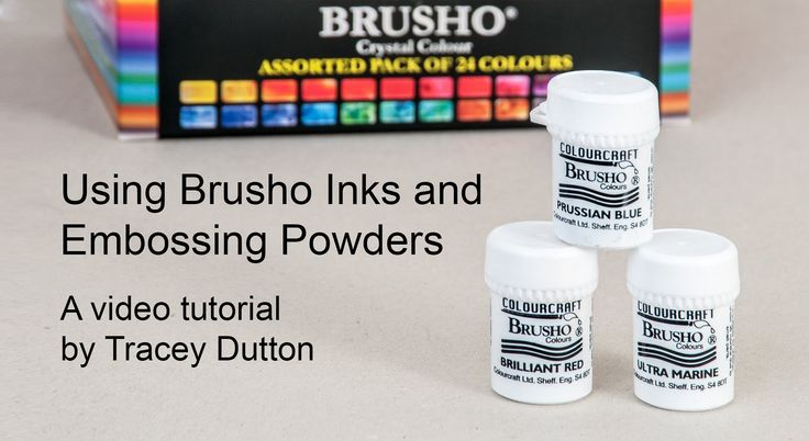 An inspirational video showing you techniques using Brushos and Lavinia Stamps, with Wow embossing powders