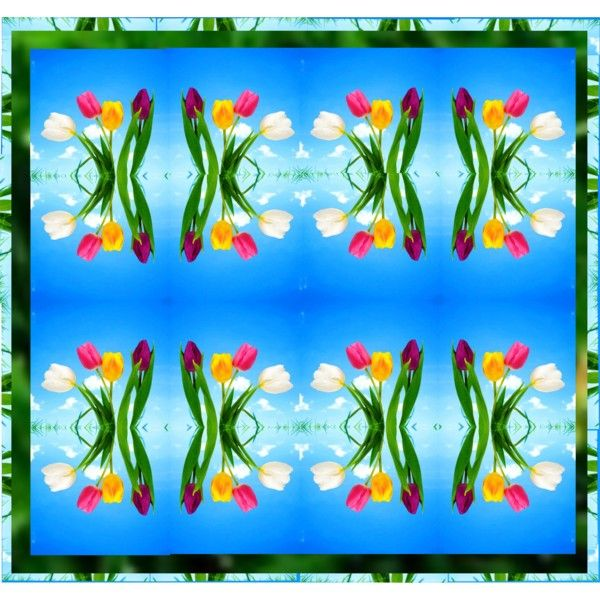 Tulip Art.. by vkevans on Polyvore featuring art and vkevans