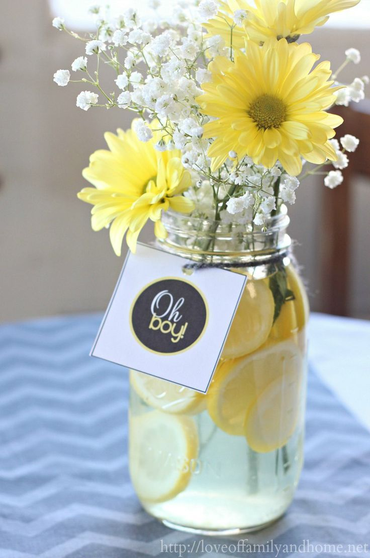Baby shower ideas for boys decorations on a budget - 101 Easy To Make Baby Shower Centerpieces